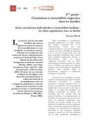 Entre circulations individuelles et immobilité familiale - Maison des ...