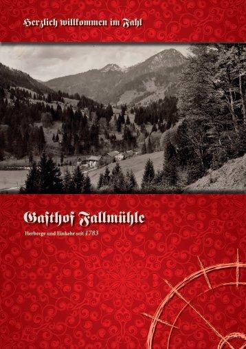 Hier können Sie unsere Speisekarte als PDF ... - Gasthof Fallmühle