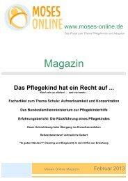 Moses Online Magazin - Ausgabe März 2013