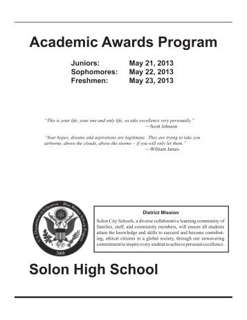 Underclass Honors 2013.pdf - Solon City Schools