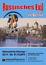 Programm Osteuropäische Kultur 2013