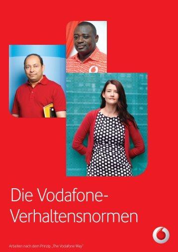 Die Vodafone- Verhaltensnormen