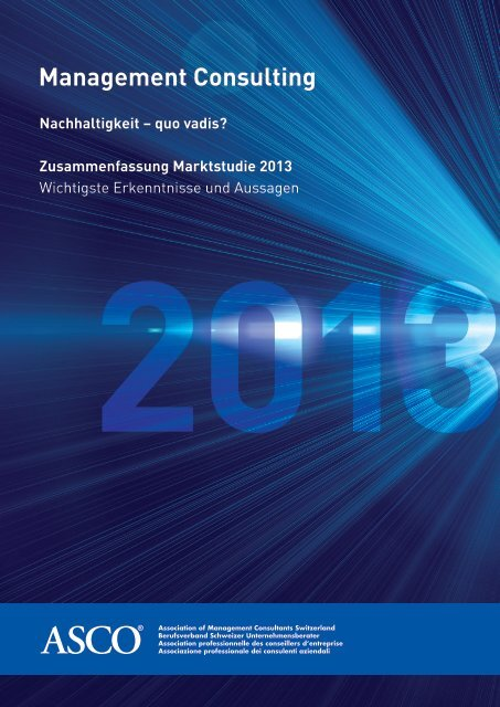 Publikation Management Consulting 2013 - Asco