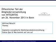 Vortrag Reischl - INTEGRITAS