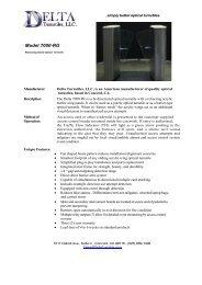 Delta 7000RG Optical Turnstile Data Sheet - SVC Marketing INC
