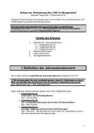 Erlass zur Umsetzung des LDG 2013-2014