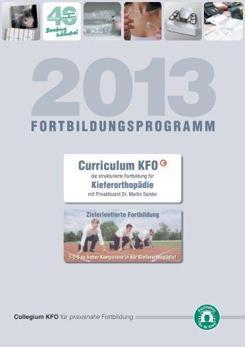 Broschüre Kursprogramm 2013