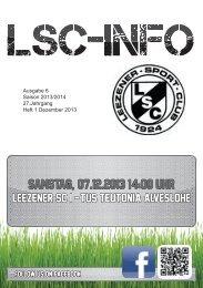 LSC-Info 2013-2014 Ausgabe 6 - Leezener SC