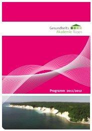 Programm 2011/2012 - Gesundheits-Akademie-Rügen