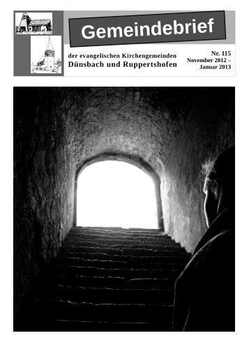 Gemeindebrief Nr. 115 - Evangelischer Kirchenbezirk Blaufelden