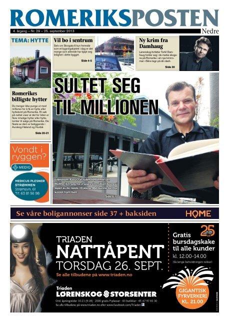 Se våre boligannonser side 37 + baksiden - Romeriksposten