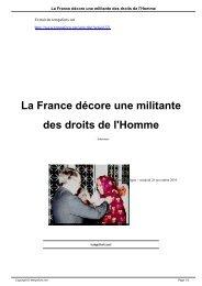 La France décore une militante des droits de l'Homme - Temps Forts