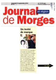 Journal de Morges - Union , Bournens