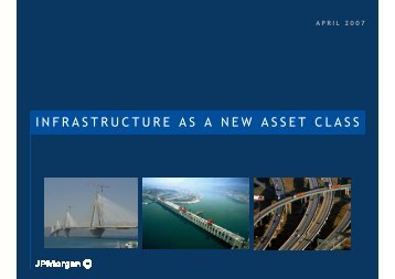 INFRASTRUCTURE AS A NEW ASSET CLASS - FIAP