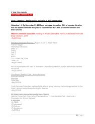 1 | Page 5 Year Plan Update Last update: October 8, 2013 Goal 1 ...