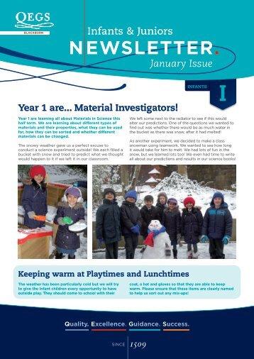 Year 1 are... Material Investigators! - QEGS