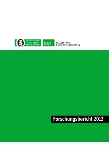 Forschungsbericht 2012 - Die Fakultät für Naturwissenschaften