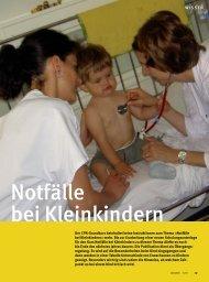 Notfälle bei Kleinkindern