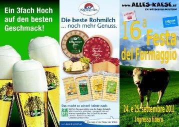 Folder außen Ital 2011.cdr - Käsefestival in Kötschach-Mauthen