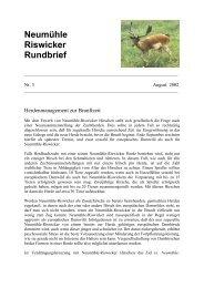 Neumühle Riswicker Rundbrief - neumühle-riswicker hirsche