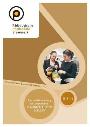 Fort- und Weiterbildung Humanberufliche Schulen 2013/14