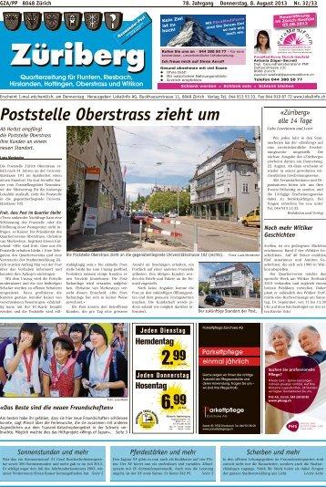 Poststelle Oberstrass zieht um - Lokalinfo AG