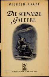 Wilhelm Raabe Die schwarze Galeere - buchkalmar.de