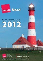 BILDUNGSPROGRAMM - ver.di-Forum Nord