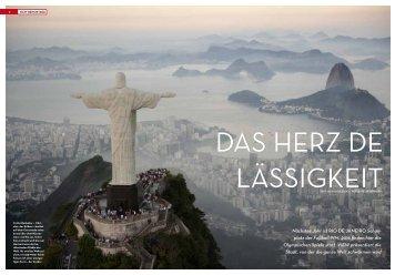 Nächstes Jahr ist RIO DE JANEIRO Schau- platz der Fußball-WM ...