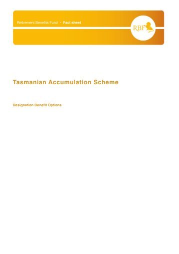 Tasmanian Accumulation Scheme - SuperFacts.com