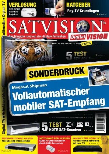 Vollautomatischer mobiler SAT-Empfang