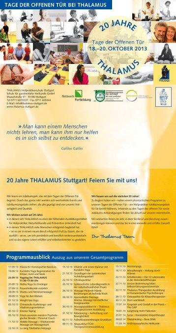 Tage der offenen Tür Oktober 2013 - Ausbildungsinstitute.de