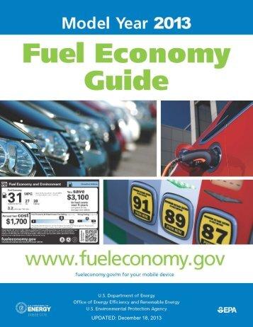 2013 Fuel Economy Guide