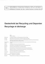 Geotechnik bei Recycling und Deponien Recyclage ... - SGBF-SSMSR