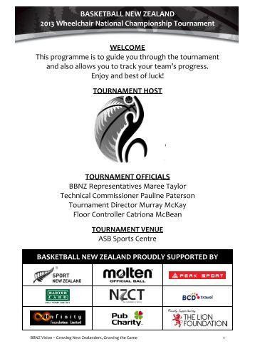 2013 Wheelchair National Championship Programme