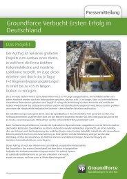 Groundforce Verbucht Ersten Erfolg in Deutschland