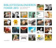 Bibliotekskalender for foråret 2013 - Aarhus Kommunes Biblioteker