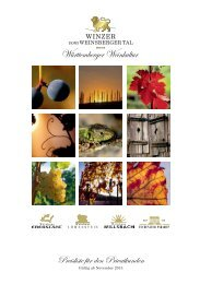 gültig ab Oktober 2013 - Winzer vom Weinsberger Tal