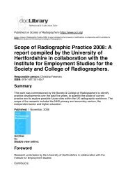 Scope of Radiographic Practice 2008: A report compiled by the ...