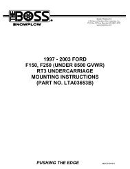 2003 ford f150, f250 (under 8500 gvwr) - THE BOSS Snow Plows