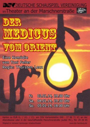 Der Medicus vom Orient - Deutsche Schauspiel Vereinigung e.V.