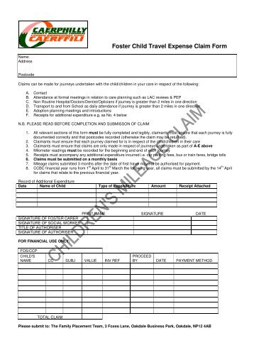 travel expense guidance note and claim form for attending for ...