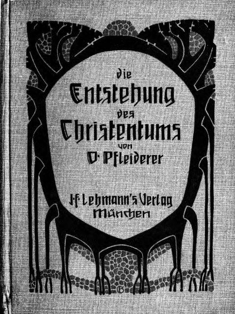 Die Entstehung des Christentums - Scholars Portal