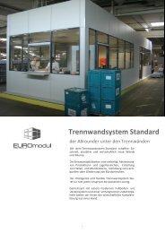 Trennwandsystem Standard