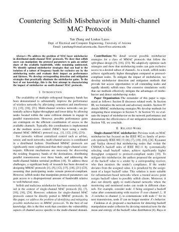 Countering Selfish Misbehavior in Multi-channel MAC Protocols
