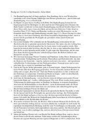 2012-06-23 Handauflegung - Predigt Bad Rotenfels