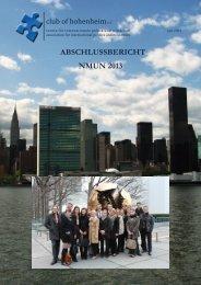 abschlussbericht nmun 2013 - Club of Hohenheim eV