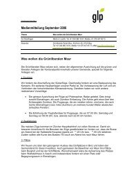 Medienmitteilung September 2006 - Grünliberalen Maur