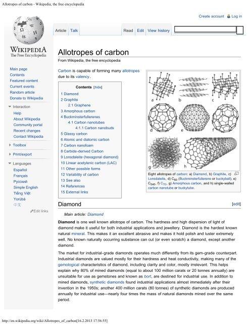 Allotropes of carbon - Wikipedia, the free encyclopedia pdf