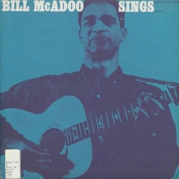 Page 1 BILL MGADMI SINGS Page 2 Page 3 Bill McAdoo Sings ...